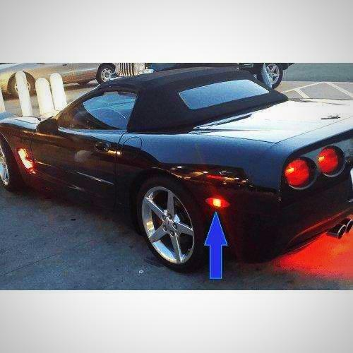 C5 C6 corvette Set Of 4 Rear and Side marker lights (2) Amber (2) Red-Corvette Solution