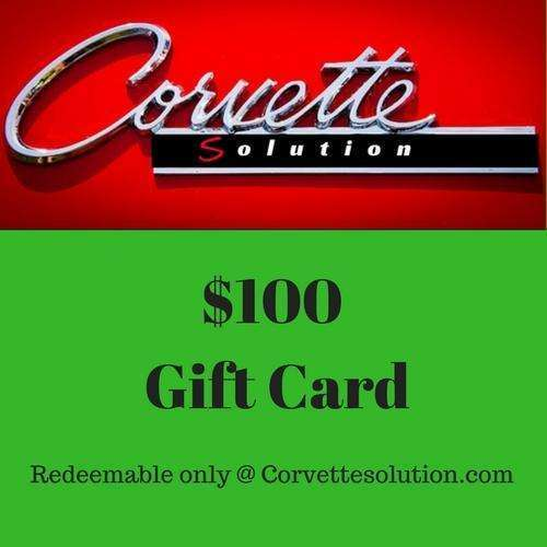 Corvette Solution Gift card $100.00-Corvette Solution
