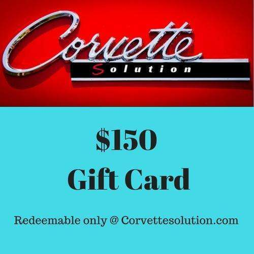 Corvette Solution Gift card $150.00-Corvette Solution