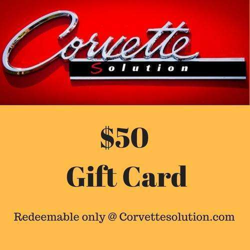 Corvette Solution Gift card $50.00-Corvette Solution