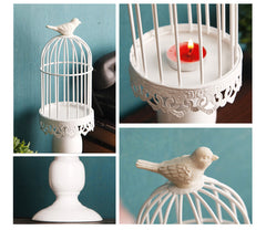 Decorative Bird Cage Candle Holder North Sage Home
