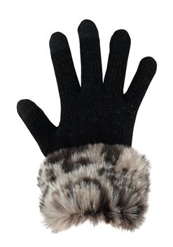 Fabulous Furs Faux Fur Trimmed Tech Gloves