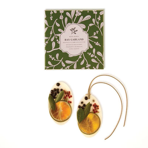 Rosy Rings - Bay Garland Botanical Wax Sachets
