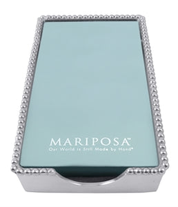 Mariposa Beaded Guest Towel Box