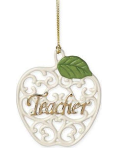 Lenox Gifts From The Heart Teacher Pierced Apple Charm Ornament