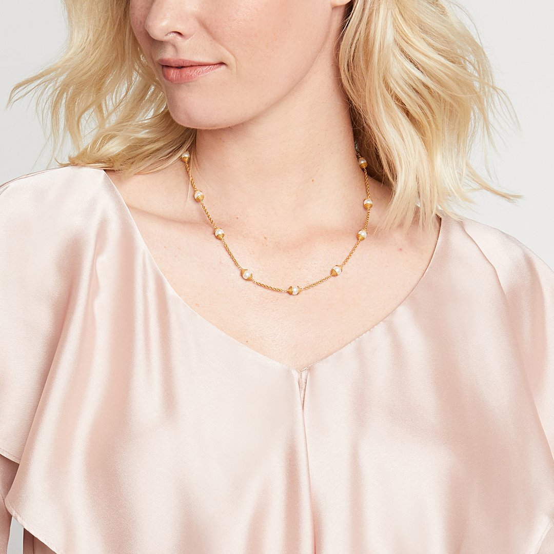 Julie Vos Calypso Pearl Delicate Necklace