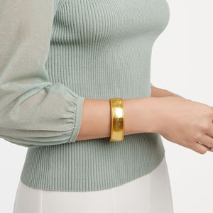 Julie Vos Cassis Gold Statement Hinge Bangle