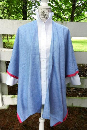 Denim Cotton Cape