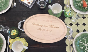 Personalized Oval Cutting Board
