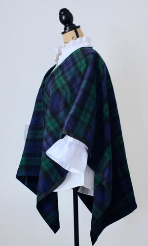 Blackwatch Plaid Cotton Cape