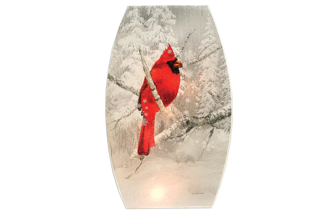 Cardinal Large Lighted Glass Vase