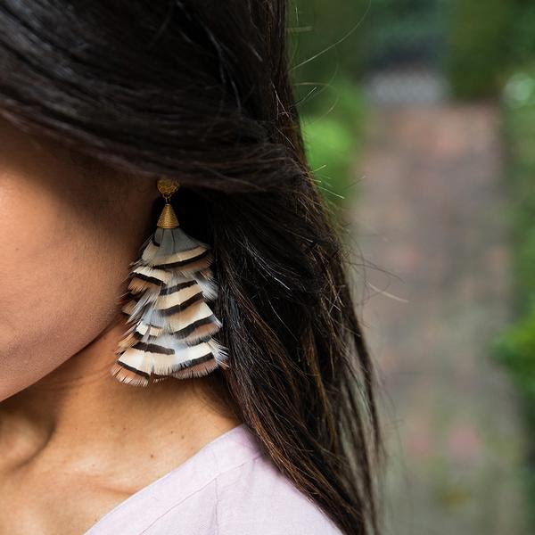Brackish Sandy Statement Earring