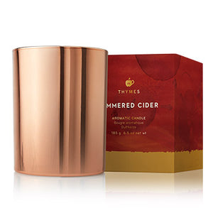 Thymes Simmered Cider Metallic Poured Candle