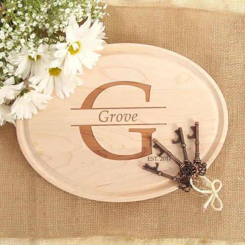 Family Name & Est. Personalized Oval Wood Board