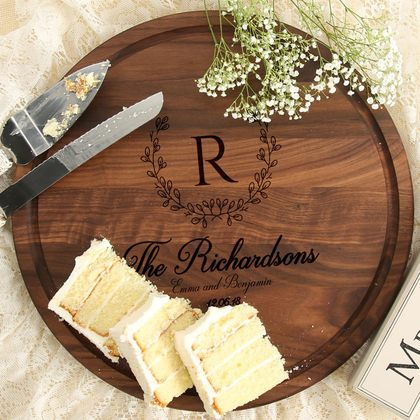 Fancy Name/Initial Personalized Wood Board