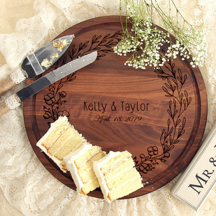 Wreath Personalized Wood Board