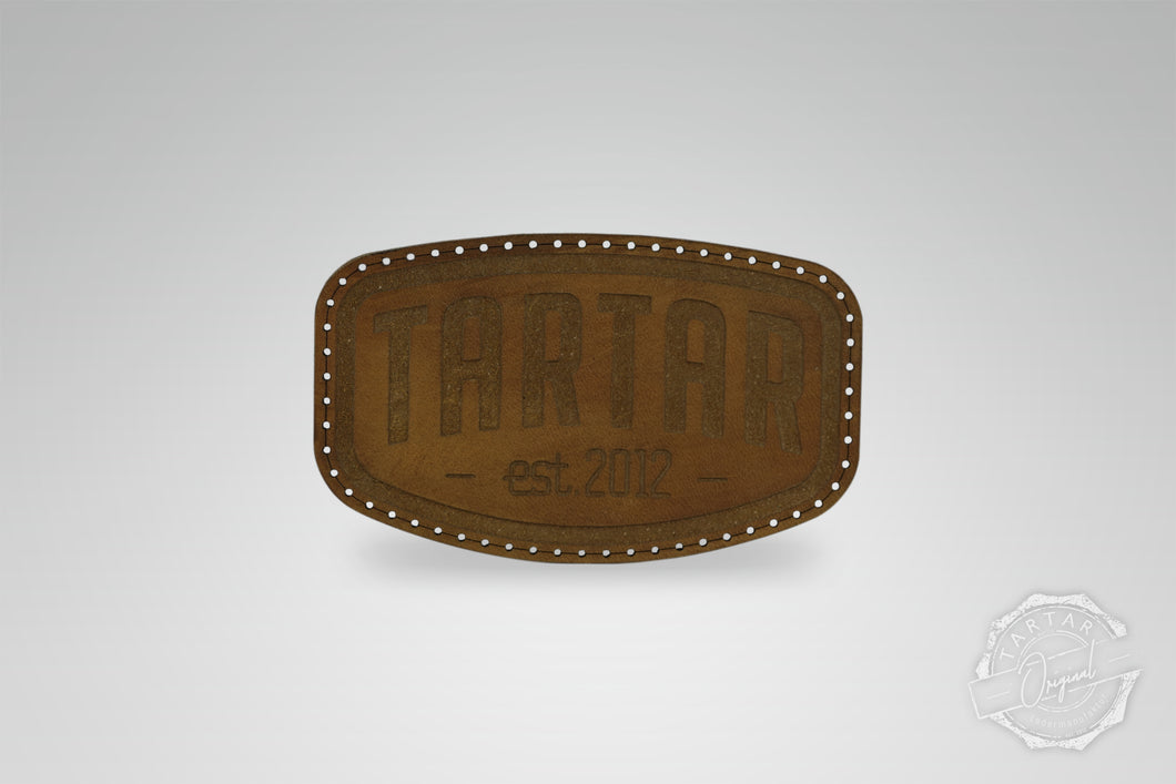 LEATHER PATCH - SCHILD DARKBROWN