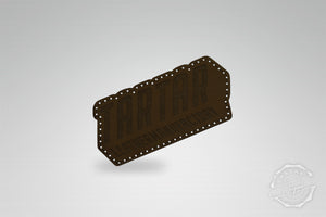 LEATHER PATCH - LEATHERMANUFACTORY SCHRÄG DARKBROWN