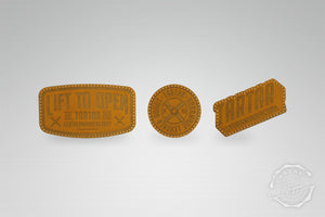 LEATHER PATCH PACK - 3er PACK I / COGNAC