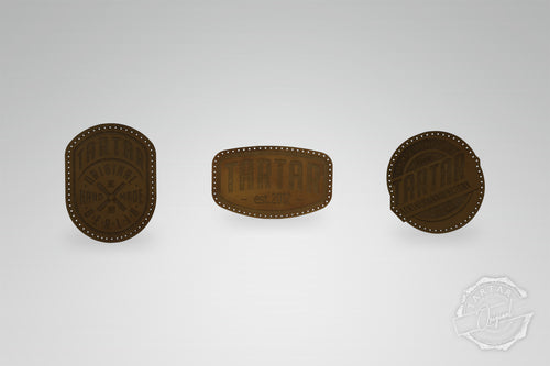 LEATHER PATCH PACK - 3er PACK II / DARKBROWN