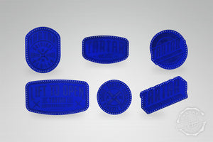 LEATHER PATCH PACK - 6er PACK / ROYALBLUE