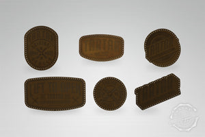 LEATHER PATCH PACK - 6er PACK / DARKBROWN