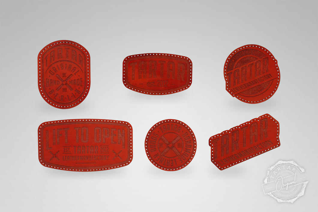LEATHER PATCH PACK - 6er PACK / ROT