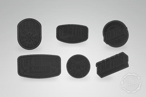 LEATHER PATCH PACK - 6er PACK / BLACK