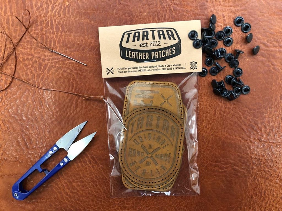 LEATHER PATCH PACK - 3er PACK II / RUBIN