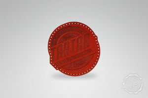 LEATHER PATCH - LEATHERMANUFACTORY RUND ROT