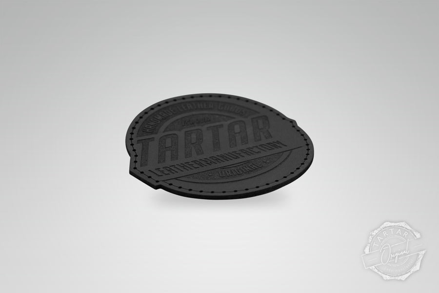 LEATHER PATCH - LEATHERMANUFACTORY RUND SCHWARZ