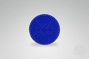 LEATHER PATCH - PROPELLER BLAU