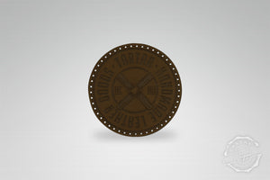 LEATHER PATCH - PROPELLER DARKBROWN