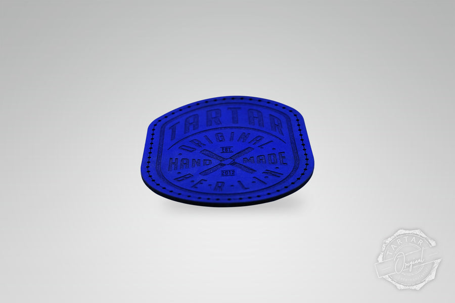 LEATHER PATCH - WIMPEL BLAU