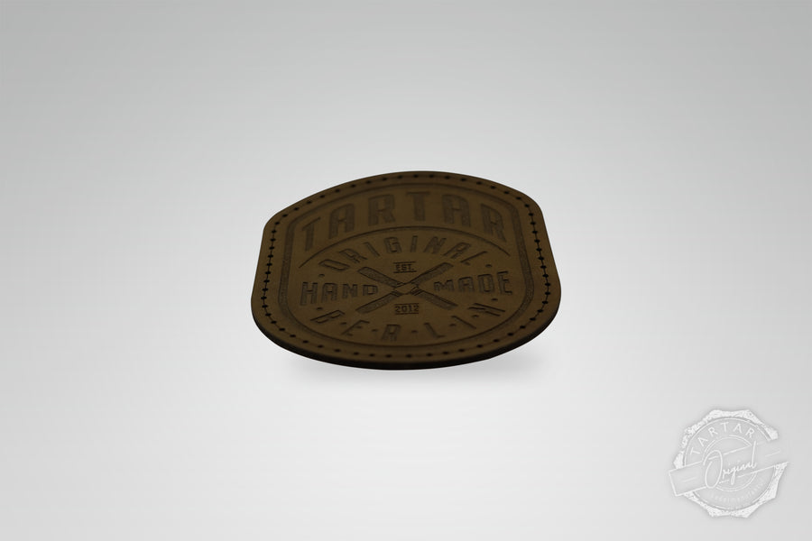 LEATHER PATCH - WIMPEL DARKBROWN