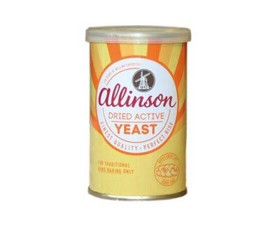 ALLINSONS DRIED ACTIVE BAKING YEAST 125G