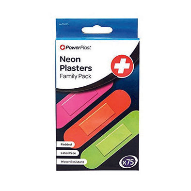 Stalwart® Neon Plaster Rectangle Neon 7.3 x 1.9 cm 75 Piece per Pack