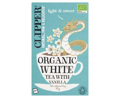 Clipper White Tea & Vanilla - Organic [26 Bags]