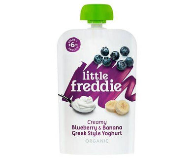 Little Freddie Organic Baby Fo Little Freddie Blueberry Banana & Greek Style Yoghurt 100g x 6