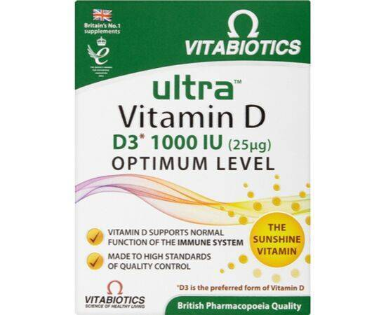 Vitabiotics Ultra Vitamin D3 Tablets [96s]