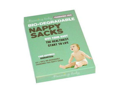 BEAMING BABY BIODEGRADABLE NAPPY SACKS FRAGRANCE FREE 60S X 10