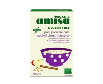 AMISA PURE PORRIDGE OATS APPLE & CINNAMON SPICE 300G
