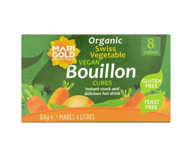 Marigold Bouillon Cubes (Green) Yeast Free 8s x 12