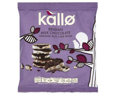 Kallo Belgian Milk Chocolate Mini Rice Cakes 40g x 12