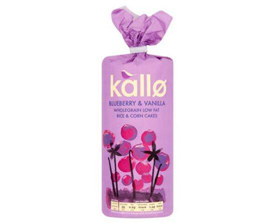 Kallo Jumbo Corn & Rice Cakes  Blueberry & Vanilla 120g x 6