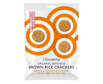 Clearspring Brown Rice Crackers - Whole Sesame [40g]
