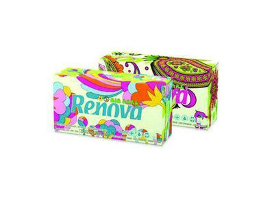 Renovagreen 100% Recycled White 3Ply Tissues  Box 80s