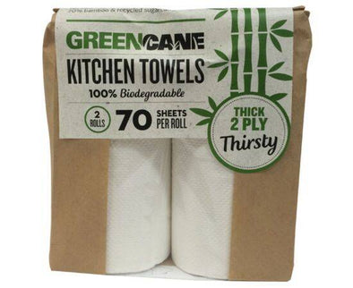 Greencane/P 2 Ply Kitchen Towels(80 Sheets) [2 Pack]