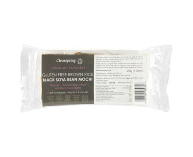 Clearspring Jap Brown Rice Mochi Black Soybean [250g]
