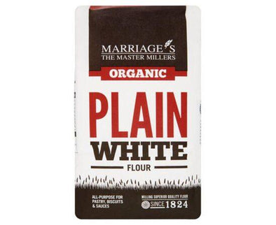 Marriages Organic Plain White Flour 1kg x 6